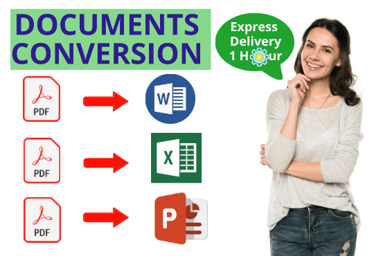 I will convert pdf to word or excel in 24 hours