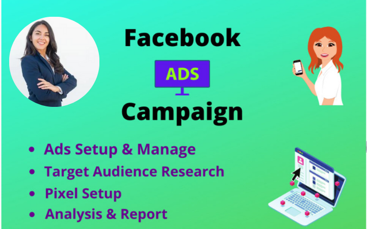 I will run facebook ads campaign to promote your business