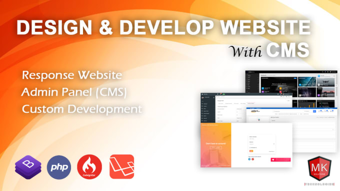 I will do develop any website with CMS in php