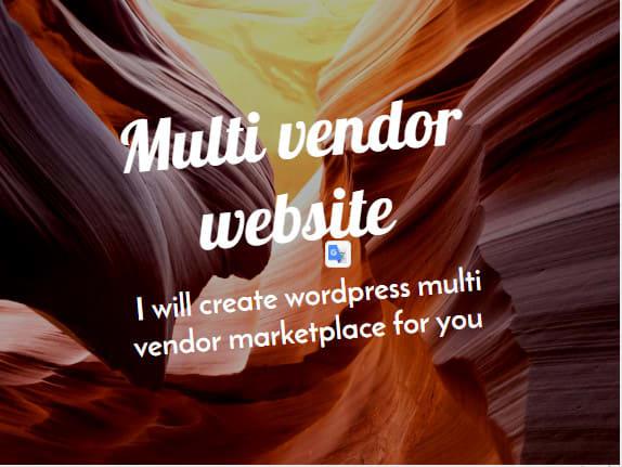 I will create wordpress ecommerce multivendor website