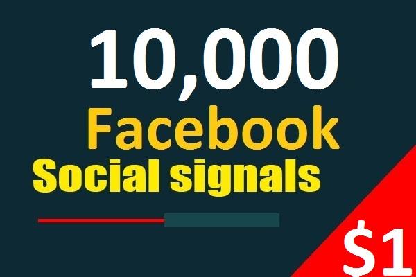 10,000 Facebook Social Signals From 1 Social Media SEO Ranking