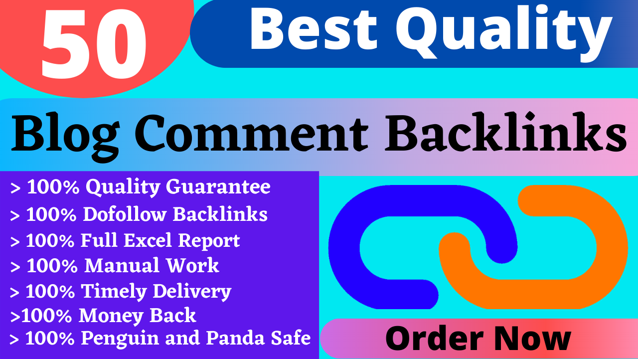 I Will Do 50 Unique Domains & Dofollow Blog Comments Backlinks in High DA PA Sites