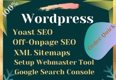 I will do wordpress yoast onpage and technical SEO