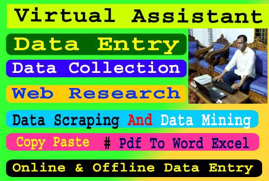 I will do data entry,  data search,  data collection,  copy,  paste,  google sheet