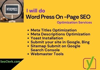 I will do WordPress Yoast SEO on page optimization services