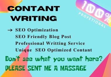 I will do write SEO content Friendly, Blog and Website