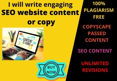 I will write engaging SEO website content or copy