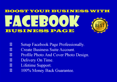 I Will Create,  Setup and Manage Your Facebook Business Page with optimization