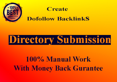I Will Give 100+ high Quality Unique Directory Submission Backlinks.