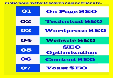 I Will Do Complete Word-press on page SEO Optimization with Using Yoast For Google Ranking.