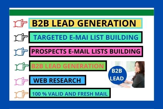 B2B lead Generation Linkedin and E-mail list prospecting