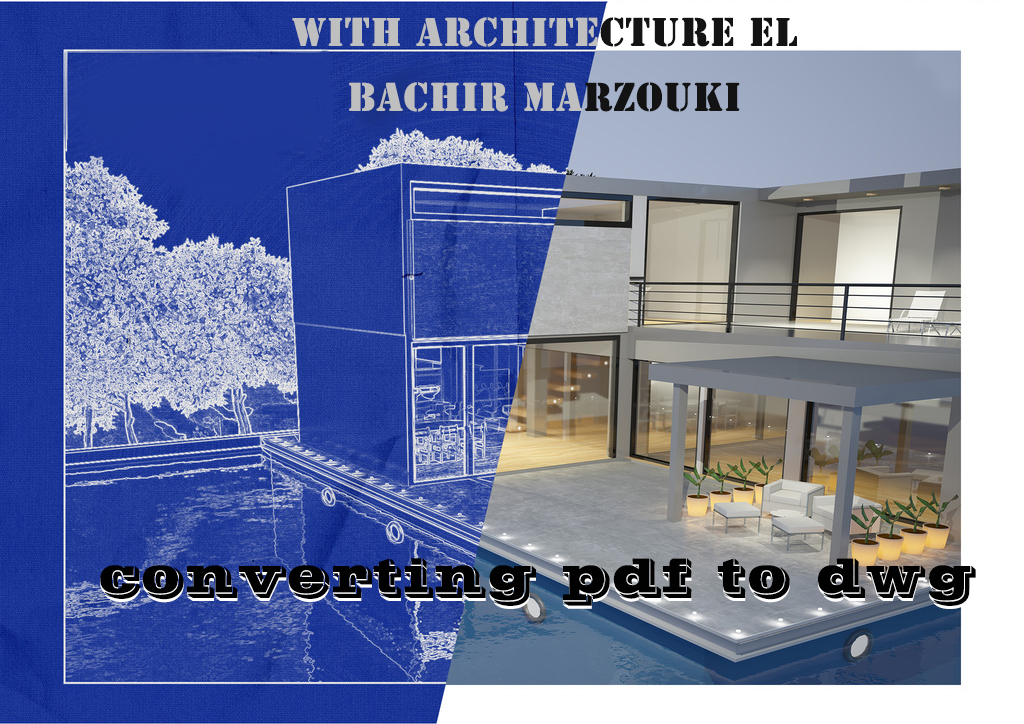 I'm an professional architecture,  i will convert to you pdf to dwg