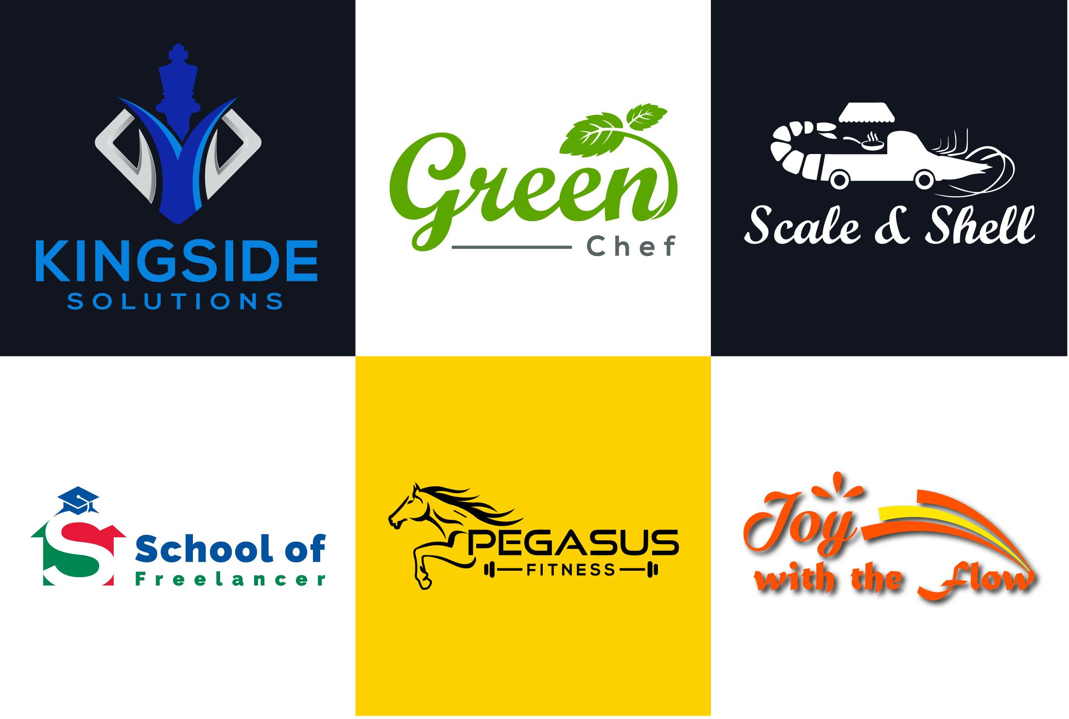 I Will Design Modern Creative Minimalist Flat & 3D Branding Logo