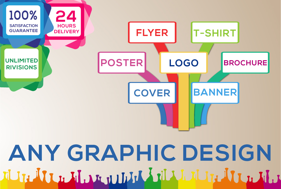 I will do any graphic design, photoshop, and illustrator related work