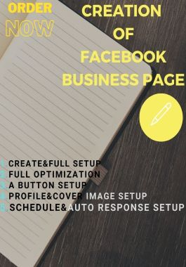 I will create your facebook business& optimize your page