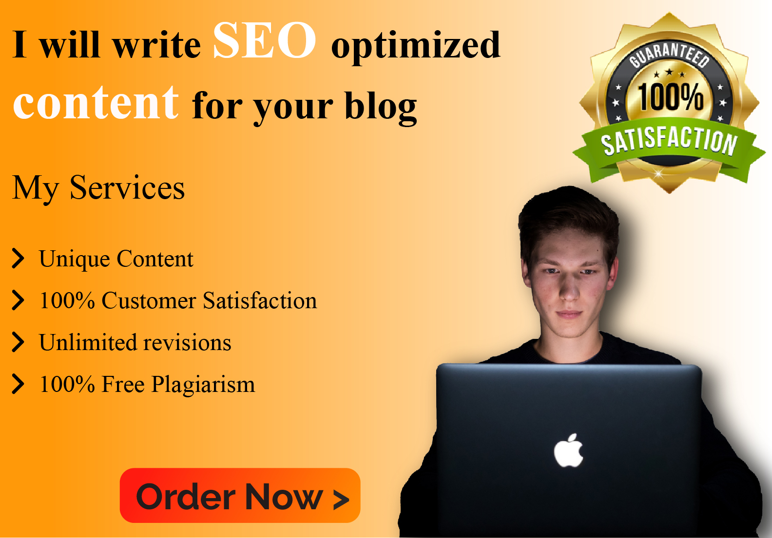 I will write SEO optimized content for your blog