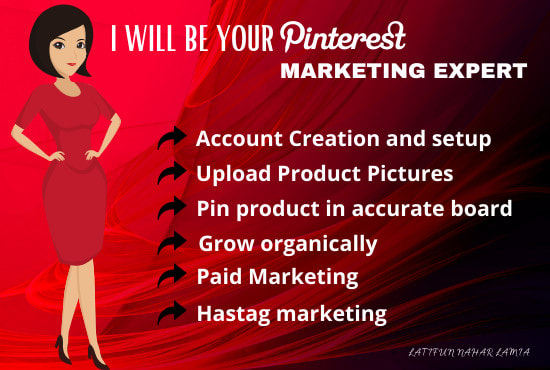 Monthly Pinterest marketing Manager