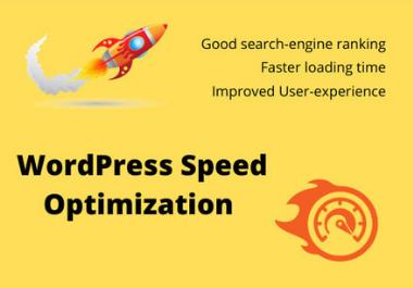 I will increase your WordPress website speed