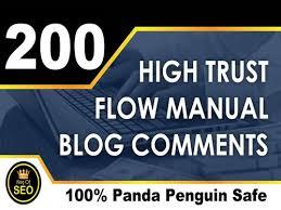 Provide 200 Blog Comments Panda & Penguin Safe Backlinks High TF CF DA PA