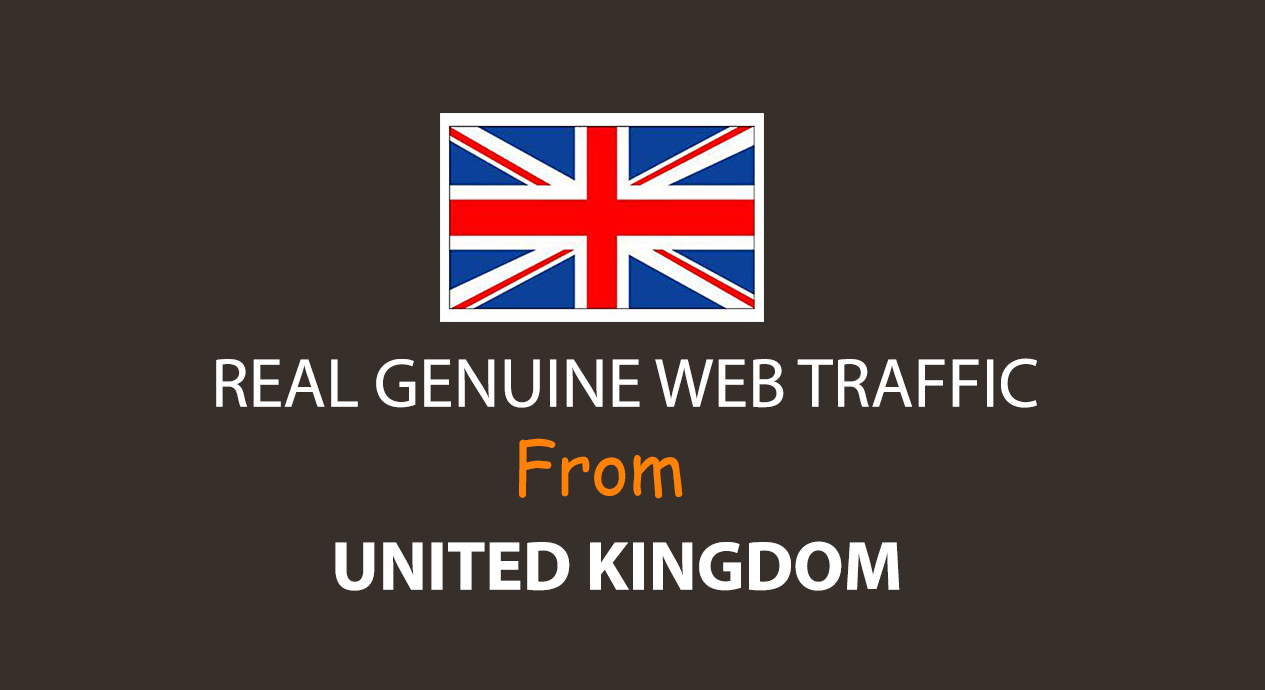 Get UNLIMITED targeted organic web traffic for 30 days from UK