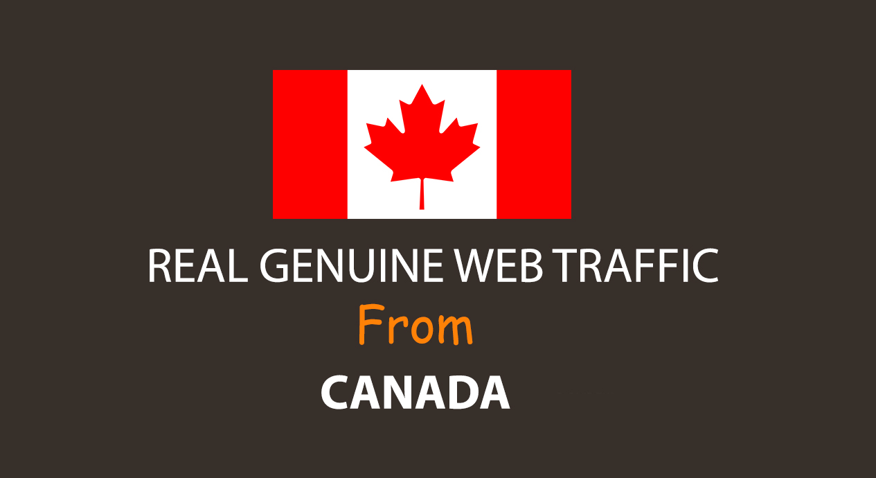 Get UNLIMITED targeted organic web traffic for 30 days from Canada