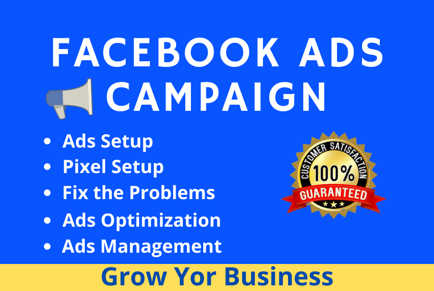 I will be your expert Facebook ads campaign manager
