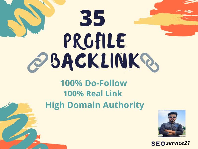 I will create 35 High Authority profile Backlinks