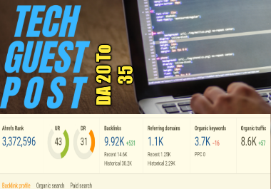 I will write and publish tech guest post on high da blog