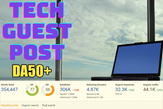 Do tech guest post on high da blog