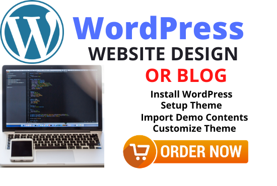 I will design responsive wordpress website or blog