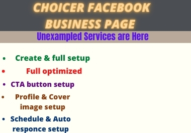 I will create,fix and optimize an eye catching facebook business page professionally