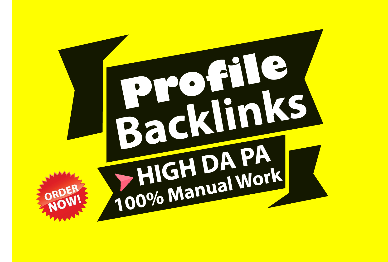 Manually Create 100 High Authority Profile Backlinks