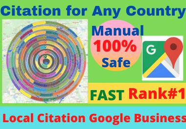 200 Google Maps Citations for local seo and google business page quality backlink high DA