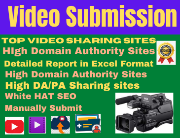 80 Video Submission high authority backlinks low spam high da link building