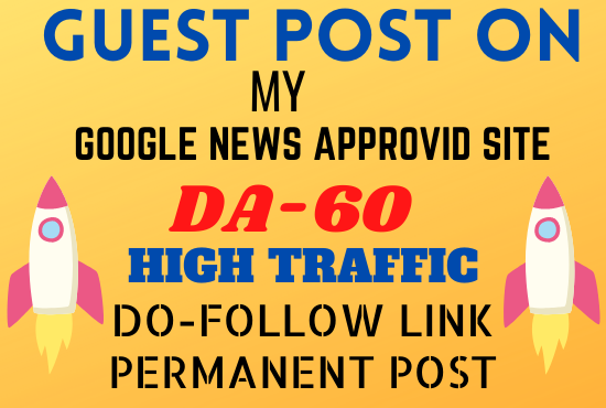 I will do guest post on my high DA DR general site