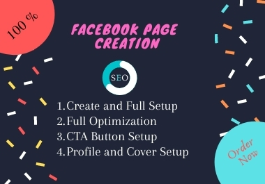 I will create a business page on Facebook and SEO optimize it.