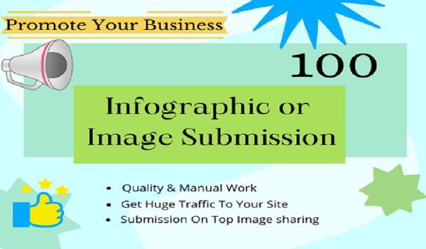 Google Safe 100 Infographic Or Image Submission Backlinks High DA + Sites