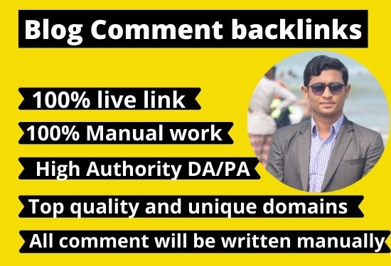 I will create 300 dofollow blog comment High quality backlinks