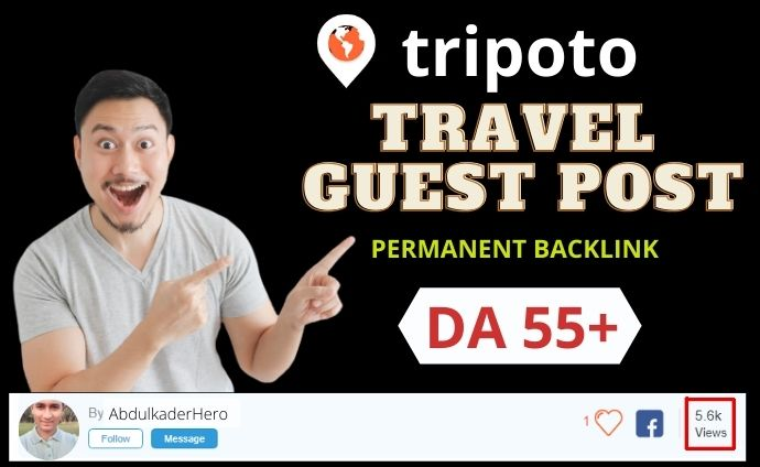 I will do write and publish the travel guest post in da 55 travel blog