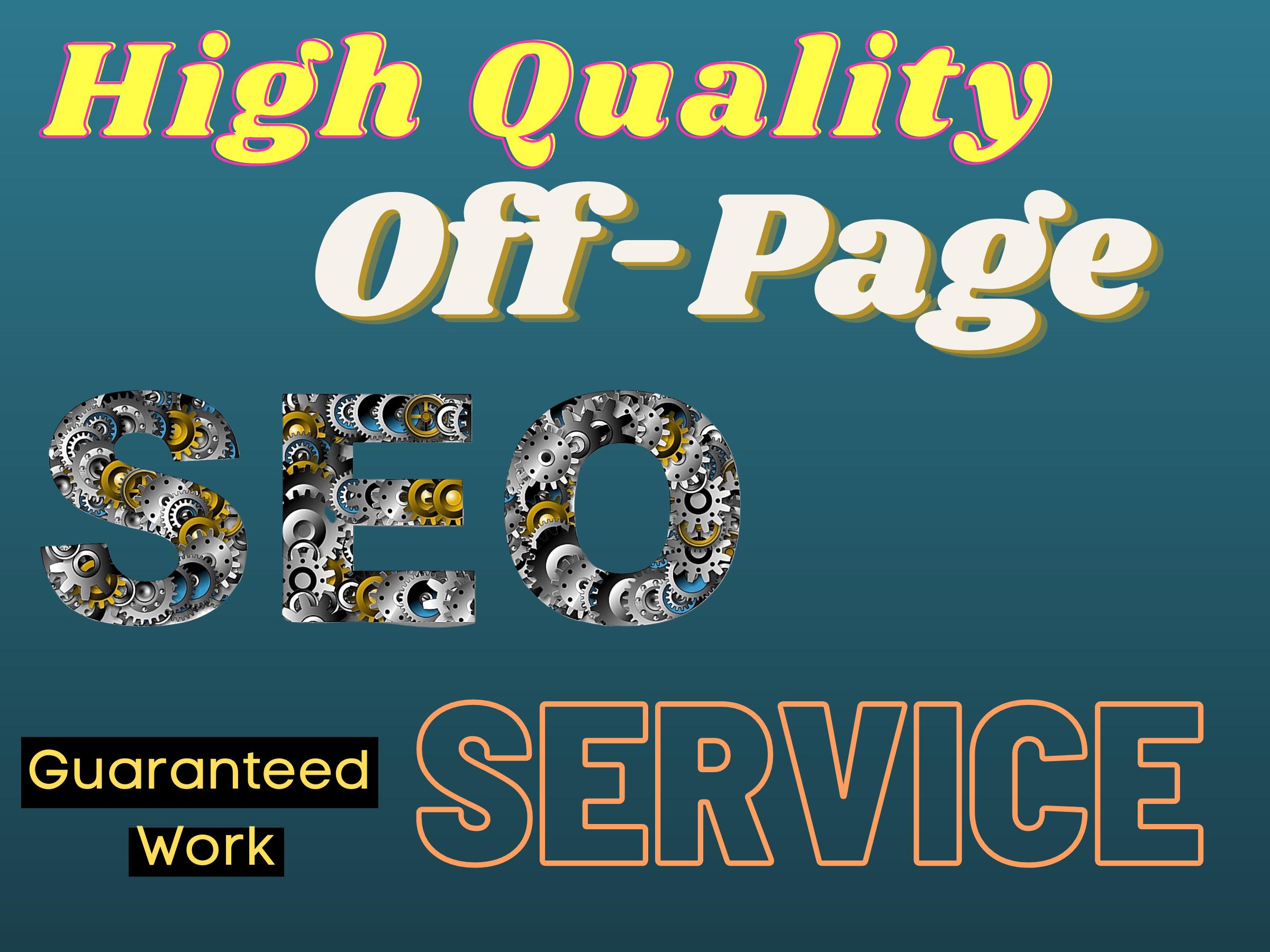 High Quality Do-Follow Backlinks For Google Long Term Top Rankings