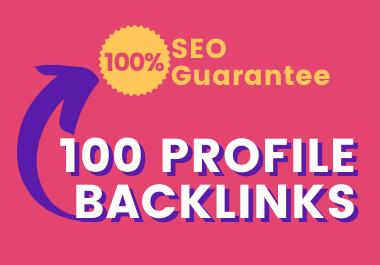Get Super Optimized 100 Profile Backlinks for Your Site