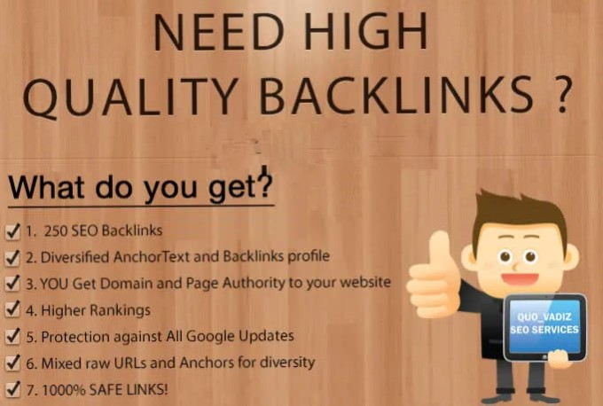 I will do 250 high quality backlinks improves SEO in 2021