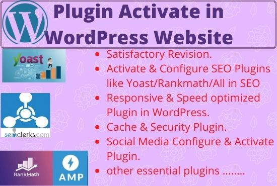 I will update, Activate and Configure SEO friendly plugins for your wordpress website
