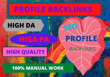 20 manual profile backlinks white hat High DA link building service for google top ranking
