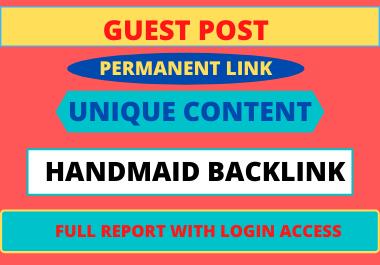 Write and publish 10 Guest Post High DA unique content dofollow backlinks
