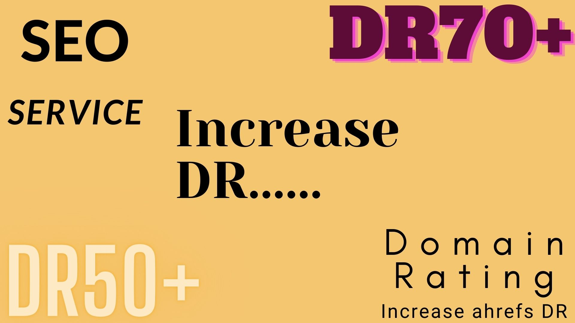 I will increase ahrefs domain rating increase dr in 30 days