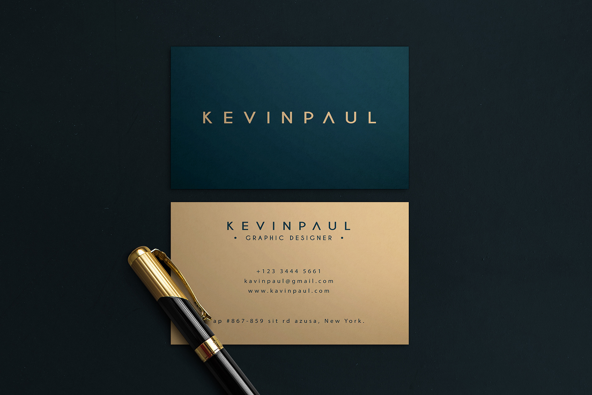 I will do luxury business card,  thank you card design in 24 hour
