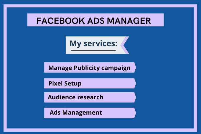 I will do manage your facebook ads manager