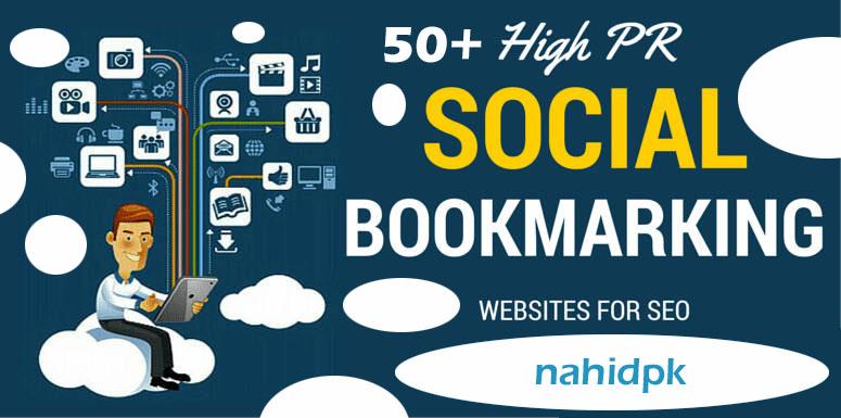 Manually Create 50+High DA Socail Bookmarking Backlinks.