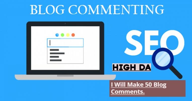 50 MANUAL Blog Comments Backlinks On High DA.
